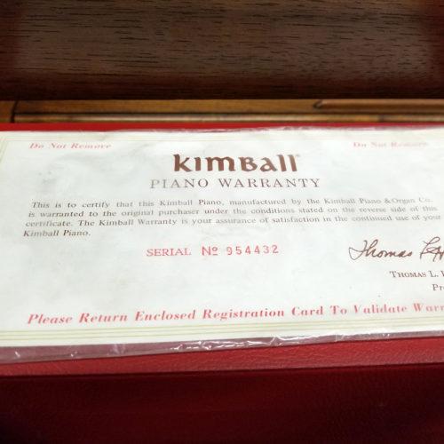 1975 Kimball Spinet 8